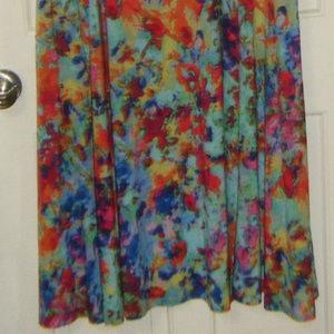 Nina Leonard Dresses - Mul;ti Colored Short Sleeve Dress 3X